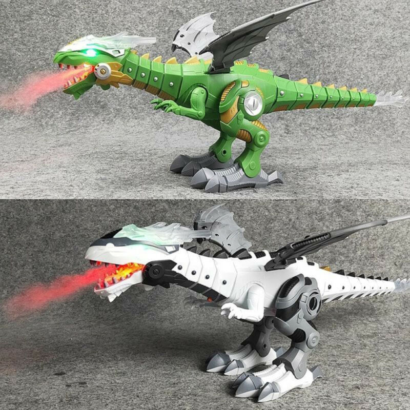 Walking Dragon Toy Fire Breathing Water Spray Dinosaur Xmas Gift For Kids l0A US