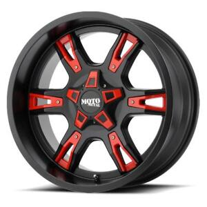"20"" Moto Metal MO969 F250 F350 Wheel Set Black & Red 20x9 8x170mm F-250 F-350 Wheels Rims Mag 20"