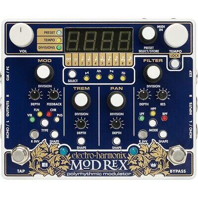 Electro-Harmonix EHX Mod Rex Polyrhythmic Modulator Guitar Effects Pedal w/ MIDI