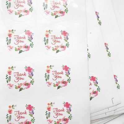 Lot 1050100pcs Thank You Sticker Flower Pattern Sealing Cards Envelope Seals