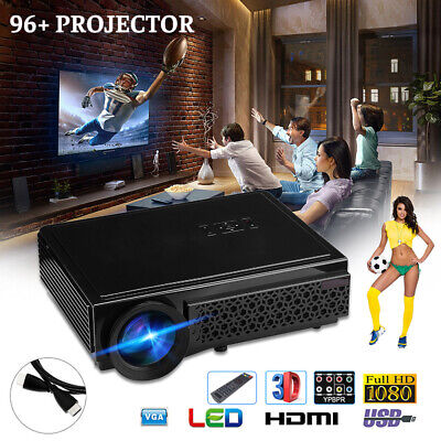 Portable LED Smart Home Theater Cinema Projector 4K 1080p FHD 3D Video Movie HT