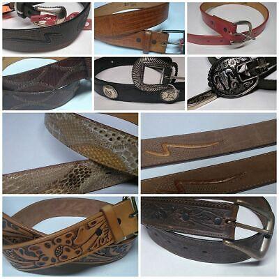 Vintage NOS JUSTIN Western Leather Belts Size 28-38 Tooled Snakeskin More Vintage Western Belts