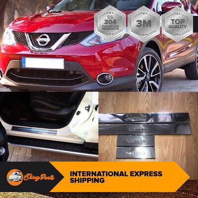 Nissan Qashqai J11 2013Up Cromo Puerta Umbral Cubierta Arañar Protectores 4pcs
