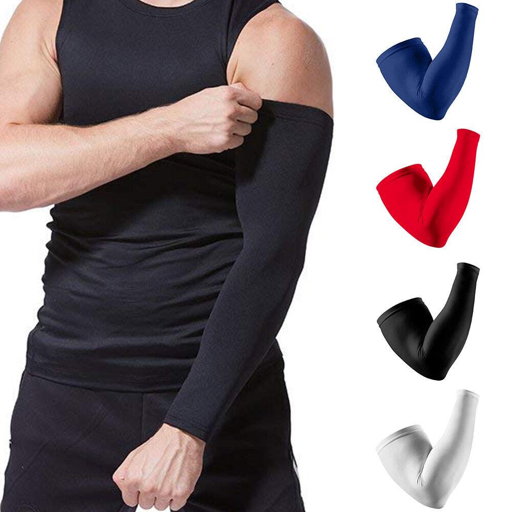 Compression Elbow Support Thigh Arm Sleeve Brace Anti Sun UV