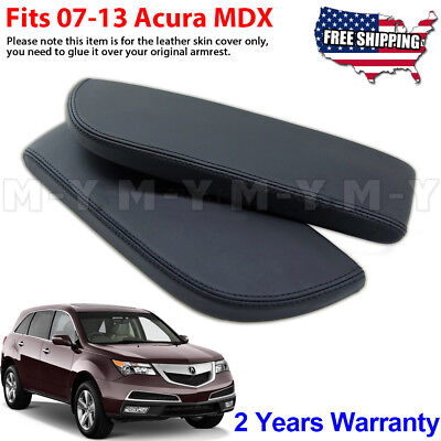 - Fits 2007-2013 Acura MDX Leather Center Console Lid Armrest Cover Skin Black