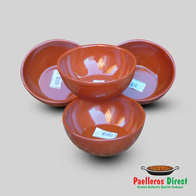 Set of 4 x 15cm Spanish Terracotta Soup / Cereal / Breakfast Bowls