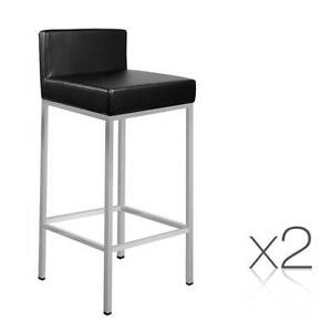 SALE:  2 x Modern Low Backrest Bar Stool PU Leather Cafe Kitchen Melbourne CBD Melbourne City Preview