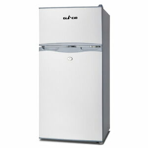 Glacio 100L Portable Fridge Bar Freezer Cooler Upright 12V/24V/240V Caravan Car Silver