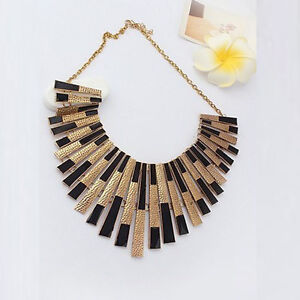 New Fashion Gothic Vintage Women Bubble Bib Party Statement Necklace Collar Hot