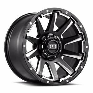 "4X 20"" INCH GRID GD5 4X4 WHEELS RIMS 20""X9 HILUX NISSAN JEEP VW Blackburn Whitehorse Area Preview"
