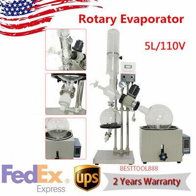 110v 5l Rotary Evaporator Rotovap Condeser Kit 0-99c Accurate Lab Equipment New