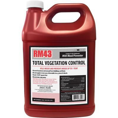 RM43 Weed Preventer 1 Gal. Glyphosate Plus Vegetation Driveway Barn Grass Killer