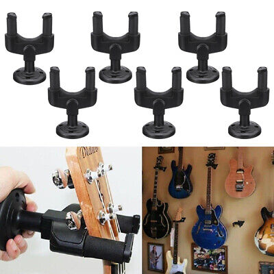 6 Guitar Hanger Stand Holder Wall Mount Display Acoustic Electric Ukelele Guitar