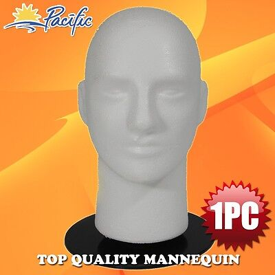 "Male MANNEQUIN 11"" head with holder base display wig hat glasses"