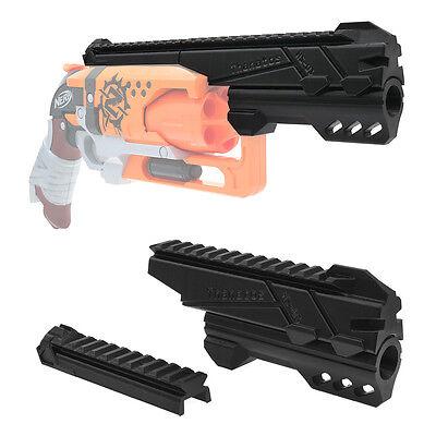 MaLiang 3D Print Magnum Barrel Top Rail Black for Nerf Hammer Shot Modify Toy
