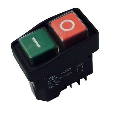 Ycz2 120230v 5pins Electromagnetic Pushbutton Switch For Slicer Drill Planer