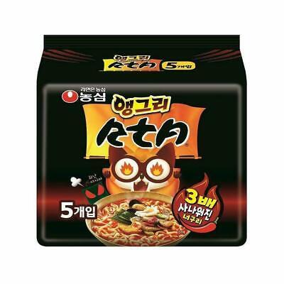 Nongshim Angry Neoguri 3X Spicy Hot Ramen Ramyun Noodle (5Pcs) / Korean Food