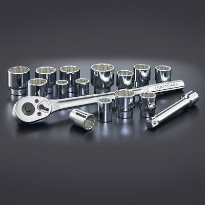 Craftsman 16 Piece SAE (Inch) 3/4 Inch Drive Socket Wrench Set w/ ratchet 44804