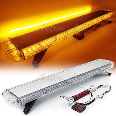 88w Led Strobe Light Bar Warning Emergency Beacon Roof Auto Tow Truck Amber 47
