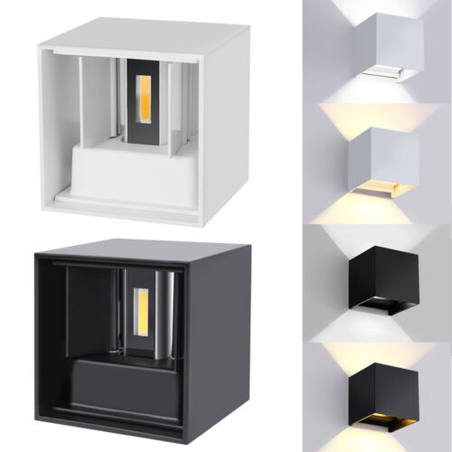 New 7W Modern LED Wall Light Up Down Cube Indoor Outdoor Sconce Lighting Lamp