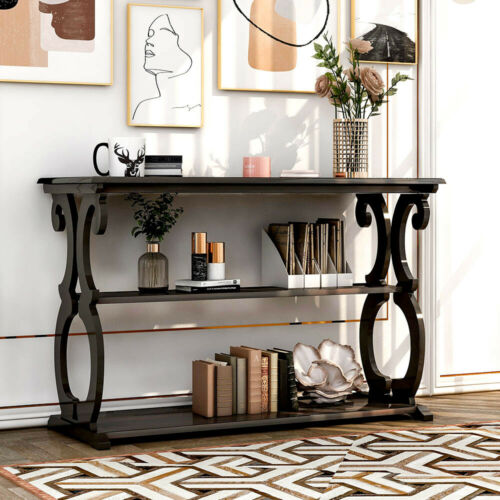 Vintage Accent Console Table Sideboard Buffet Sofa Table w/S