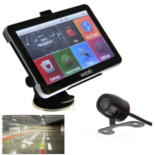 "7"" Car Truck Vehicle Portable GPS Navigation Navigator+Wire Rear View Camera Map"