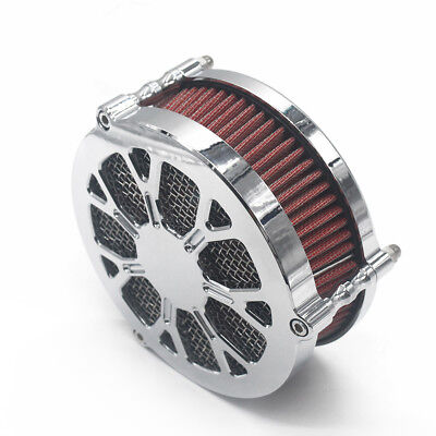 Contrast Chrome CNC Intake Air Cleaner Filter System For Harley Dyna FXD 2008-UP