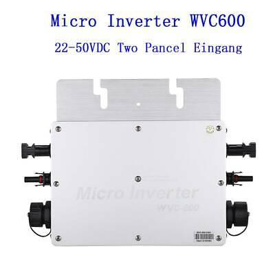 Grid Tie (WVC-600W MPPT Wasserdicht Grid Tie Inverter DC22–50V 230V für 36V Solar Panel)