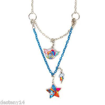 My Little Pony Rainbow Dash Girl's Necklace Equestria Girls 3 in 1 Hasbro MLP (Rainbow Dash In My Little Pony)
