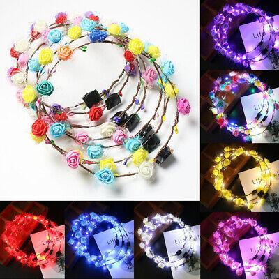 Bling LED Flashing Crown Floral Flower Hairband Headband Light Up Wedding Party](Flashing Headbands)