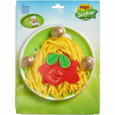 HABA Spaghetti Bolognese Soft Plush Pretend Play Food Haba Soft Toys