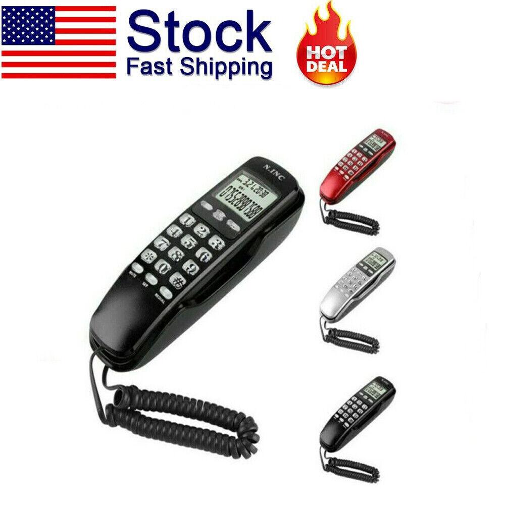 Landline Handset Phone Home Office Corded Telephone Dual Cal