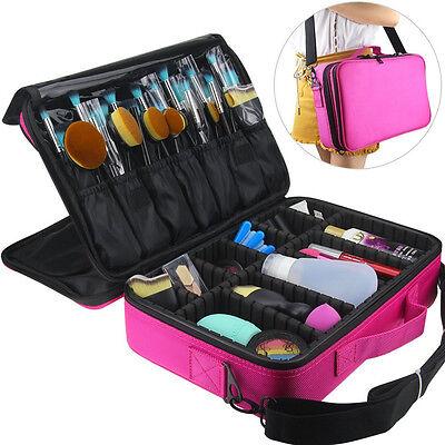 Makeup Brush Bag Case Cosmetic Pouch Storage Handle Organizer Artist Travel Rose