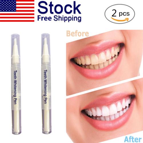 2 PCS Professional Teeth Whitening Bleaching Dental Gel Kit Tooth Whitener Pen Health & Beauty