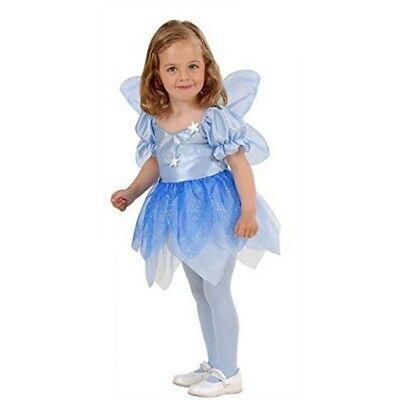 Kostüm Blumenfee Blumen-Fee blau Gr. 98 Karneval Fasching Neu