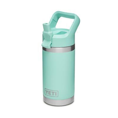 YETI Rambler Jr 12oz Stainless Steel Vacuum Insulated Kids Bottle w/ Straw Cap 12 Ounce Straw
