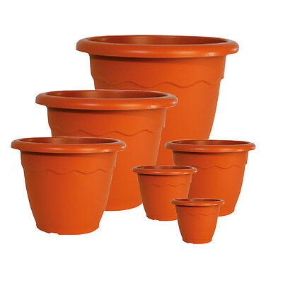Vaso fioriera in plastica varie dimensioni terracotta fiori piante VULCANO