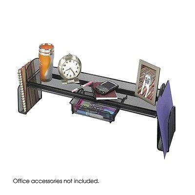 Desk Riser Drawer Organizer Small Shelf Rack Mesh Storage Holder Folder Office