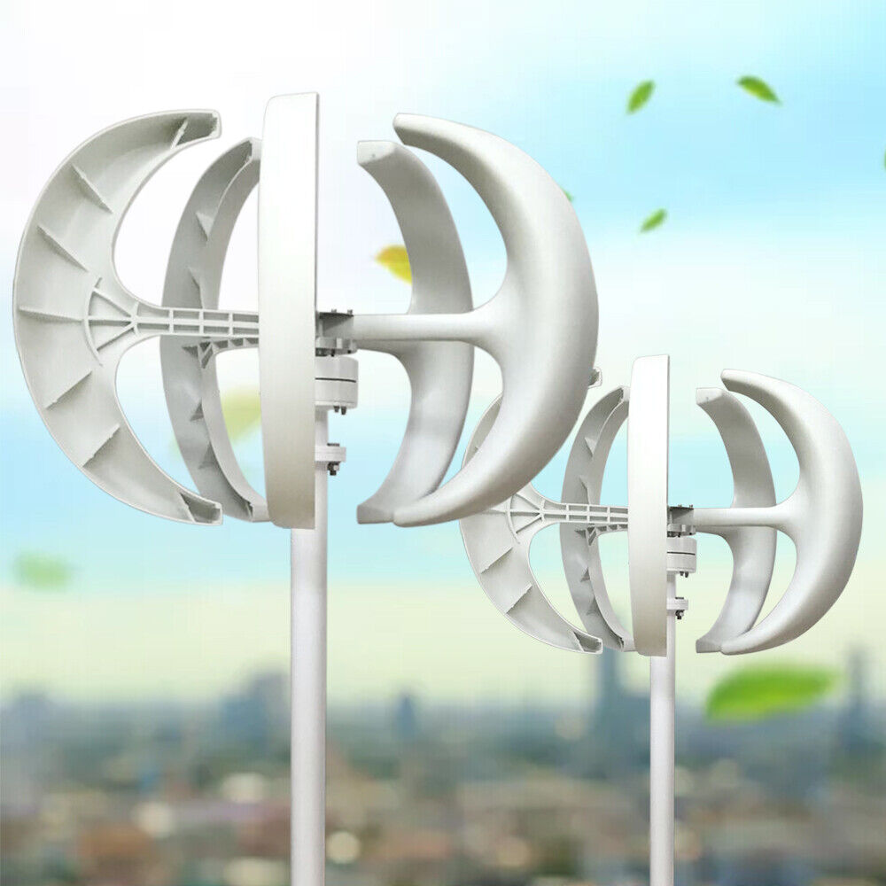 Details about 600W 24V 12V 5 Blades Vertical Axis Lantern Wind Turbine  Generator w/ Controller