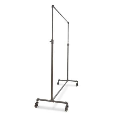 Econoco Rolling Garment Rack Pipe Clothes Storage Adjustable Height Gray 60 X 72