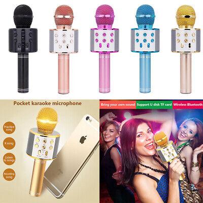 Wireless Bluetooth KTV WS-858 Microphone Handheld USB Karaoke Player MIC Speaker