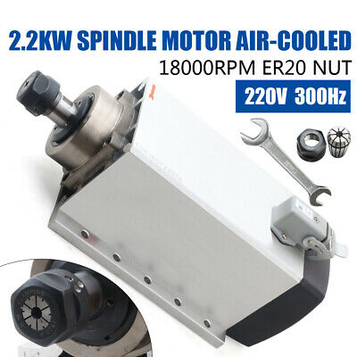 Ac220v Spindle Motor Er20 Air-cooled 18000rpm High Speed 2.2kw Cnc Wooworking Us