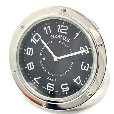 HERMES PE-CL1.510 Clipper Libert Quartz Table clock SS Silver