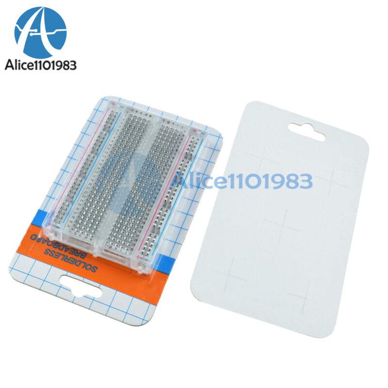 5PCS 400 Points Universal Mini Solderless Breadboard Transparent Material