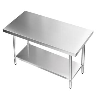 Commercial 304 Stainless Steel Kitchen Work Bench Table 1219mm