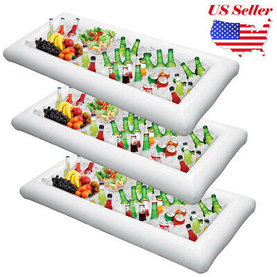 2-4x Inflatable Serving Bar Buffet Salad Ice Cooler Picnic Party Yard Outdoor NS ()