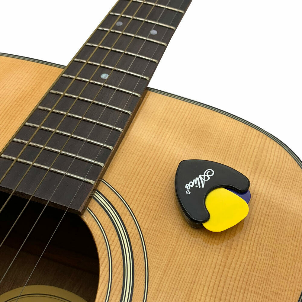 Guitar Pick Holder Durable Plastic Adhesive Tape Sticky On Guitar Picks Storage