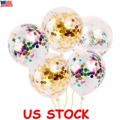 50pcs Colorful Confetti Balloon Birthday Wedding Party Helium Balloons Latex 12
