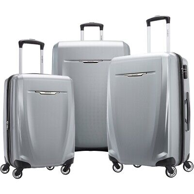 Samsonite - Winfield 3 DLX Wheeled Luggage Set (3-Piece) - Silver
