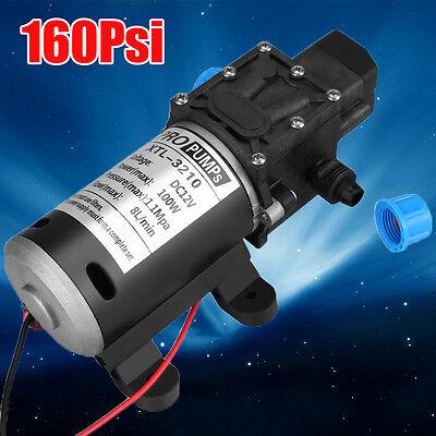 12v 100w 160psi High Pressure Diaphragm Self Priming Water Pump 8lpm For Wash